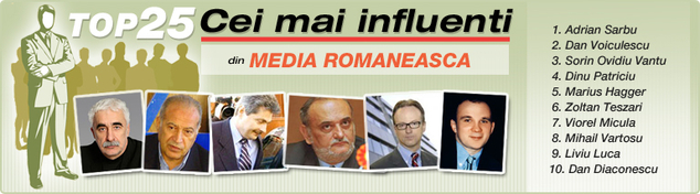 "DailyBusiness.ro ""Top 25 Influentials"": Cei mai influenti 25 de oameni din media"
