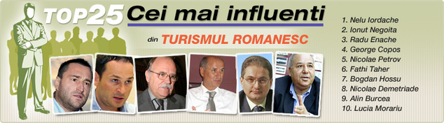 "DailyBusiness.ro ""Top 25 Influentials"": Cei mai influenti 25 de oameni din turism"