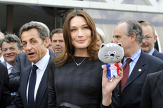 Carla Bruni si presedintele Sarkozy